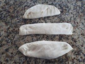 Divide the dough into 3
